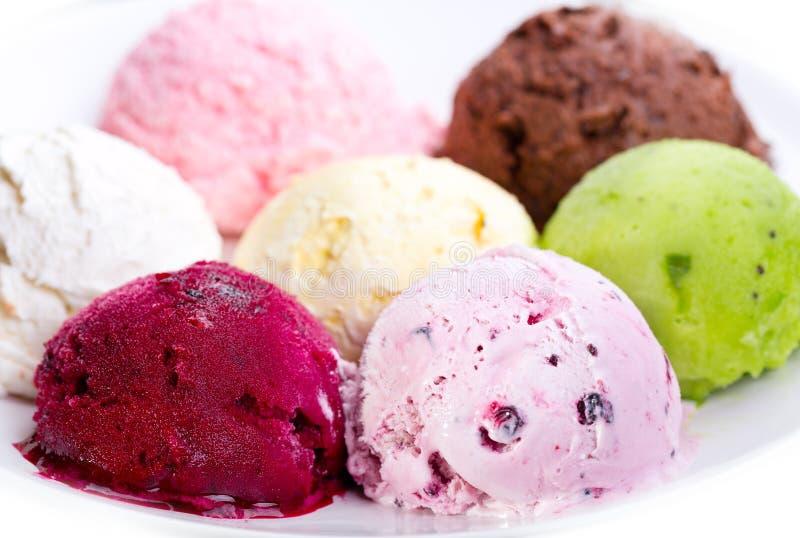 Vari mestoli del gelato fotografia stock