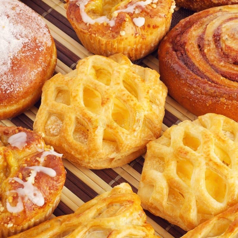 Vari panini dolci immagine stock