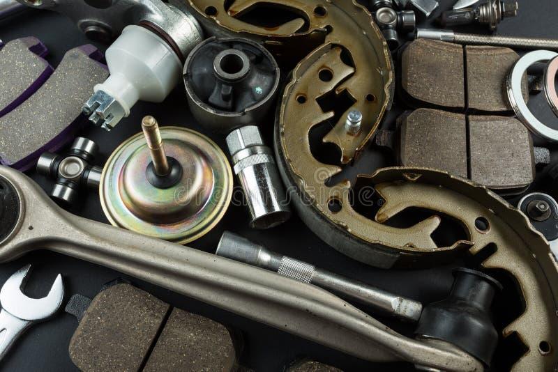 Vari parti e strumenti dell'automobile fotografia stock