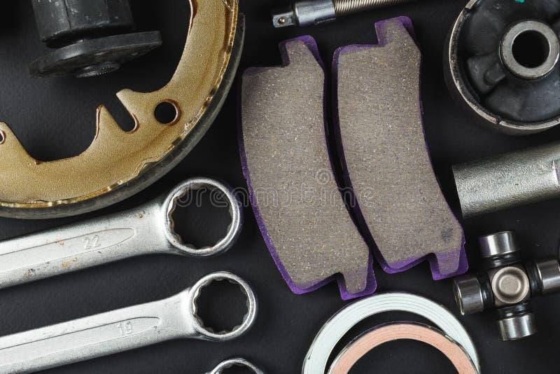 Vari parti e strumenti dell'automobile immagine stock