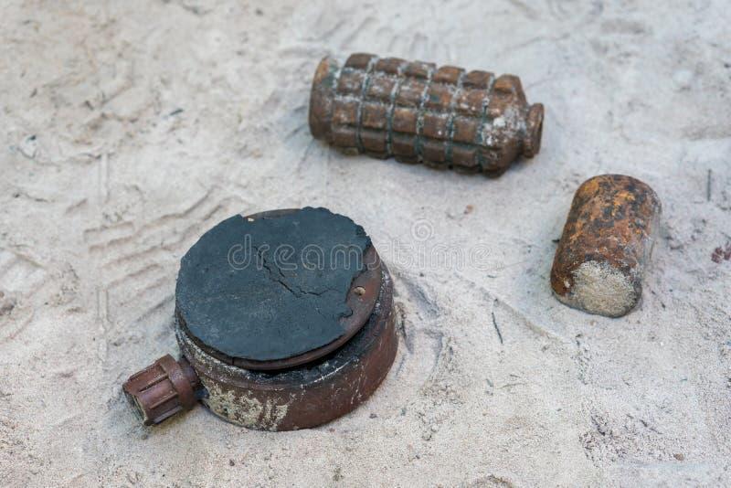 Vari tipi di bombe fotografia stock libera da diritti