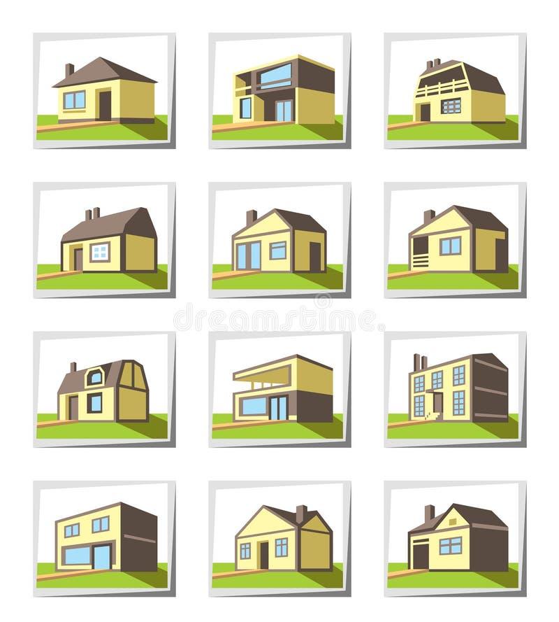 Vari tipi di case illustrazione vettoriale illustrazione for Tipi di abitazione