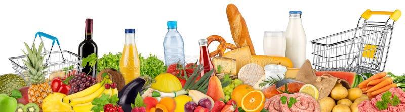 Variação do alimento e das bebidas imagens de stock royalty free