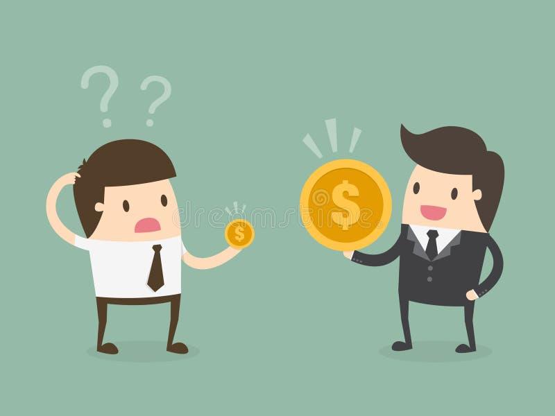 Variação do salário ilustração royalty free