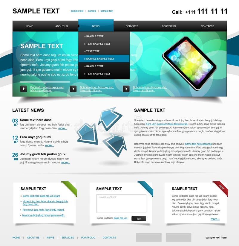 Variação Editable 1 da cor do molde 4. do Web site ilustração royalty free