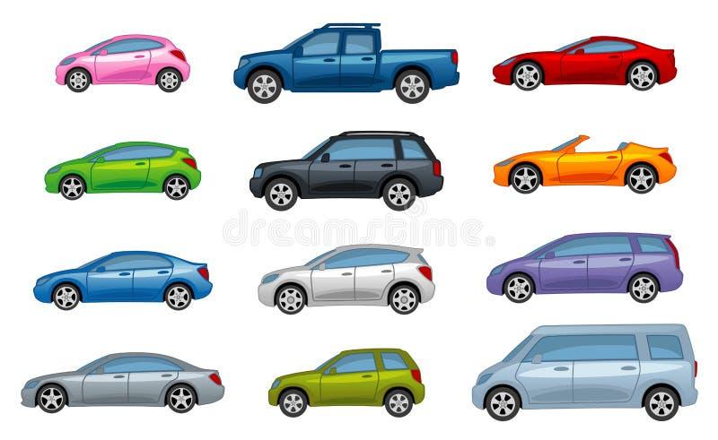 Varia automobile illustrazione di stock