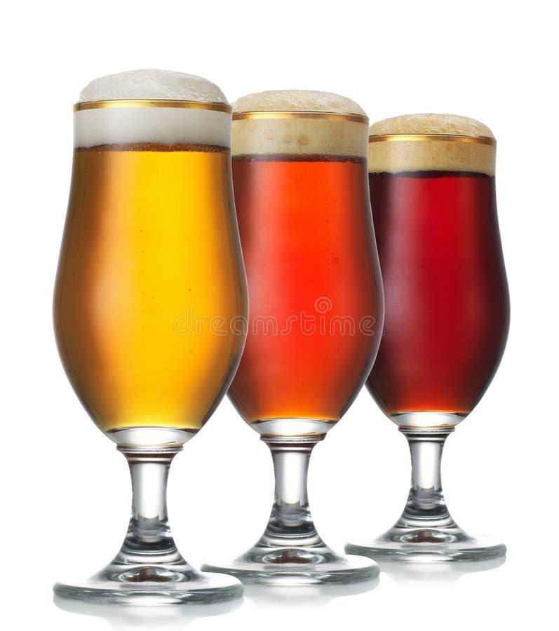 Varia birra immagini stock libere da diritti
