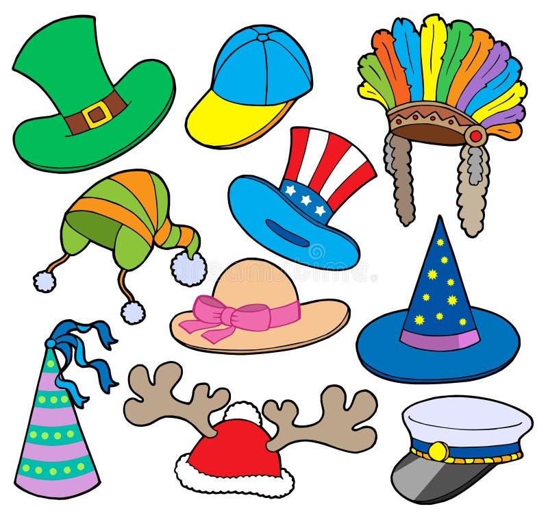Varia colección 2 de los sombreros libre illustration