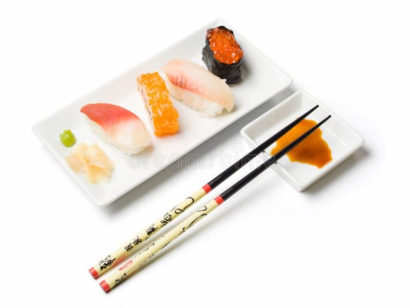 Varia comida del sushi foto de archivo libre de regalías