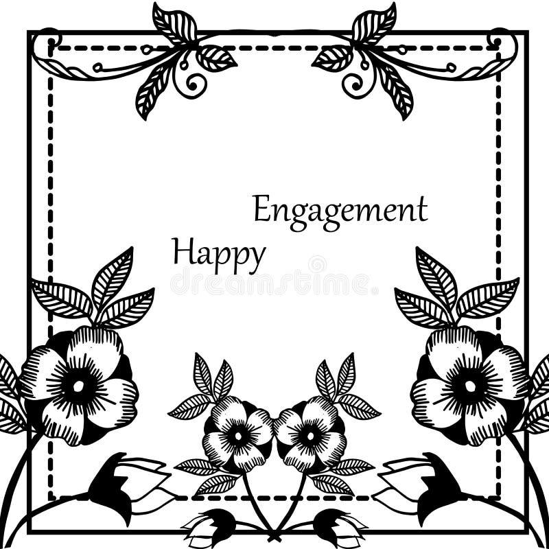 Varia forma dell'impegno felice della carta, struttura floreale d'annata, isolata su un contesto bianco Vettore royalty illustrazione gratis