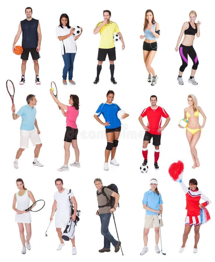 Varia gente di sport fotografia stock