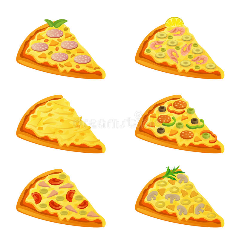Varia pizza illustrazione di stock