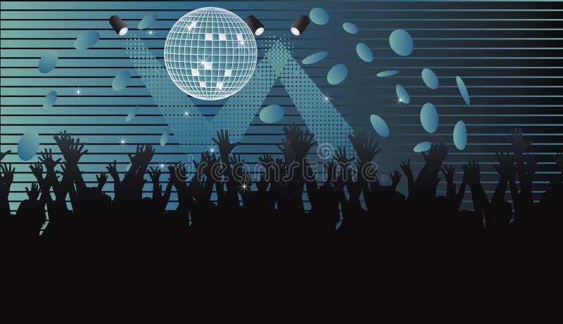 Varia silueta de la audiencia. ilustración del vector