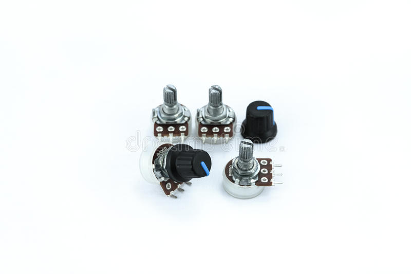 Variable resistor stock image