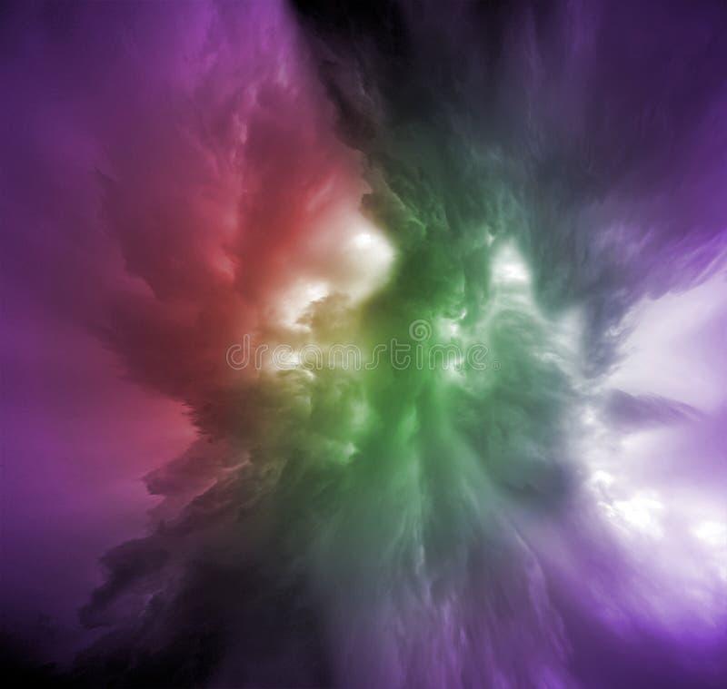 Variación colorida de las nubes libre illustration