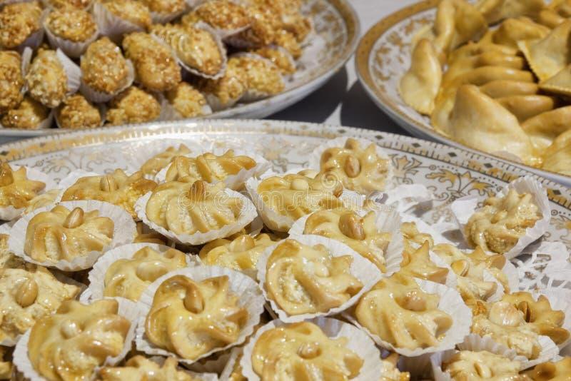 Variación de pasteles marroquíes. fotografía de archivo libre de regalías