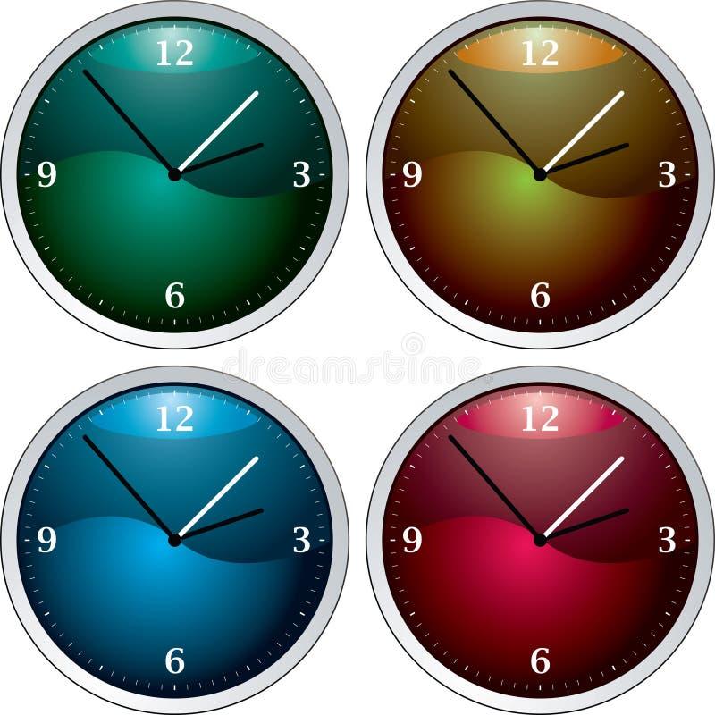 Variación del reloj ilustración del vector