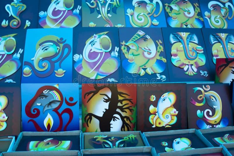 Variaciones de Lord Ganesha imágenes de archivo libres de regalías