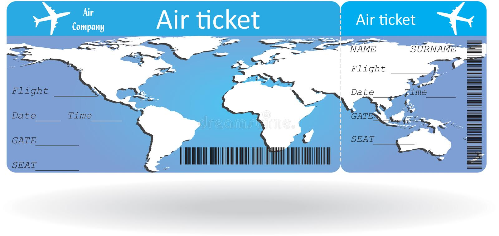 Variant Of Air Ticket Stock Vector Illustration Of Journey
