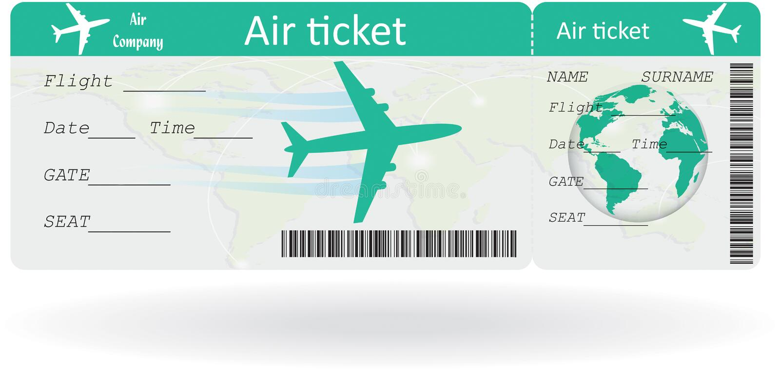 Variant Of Air Ticket Stock Vector Illustration Of