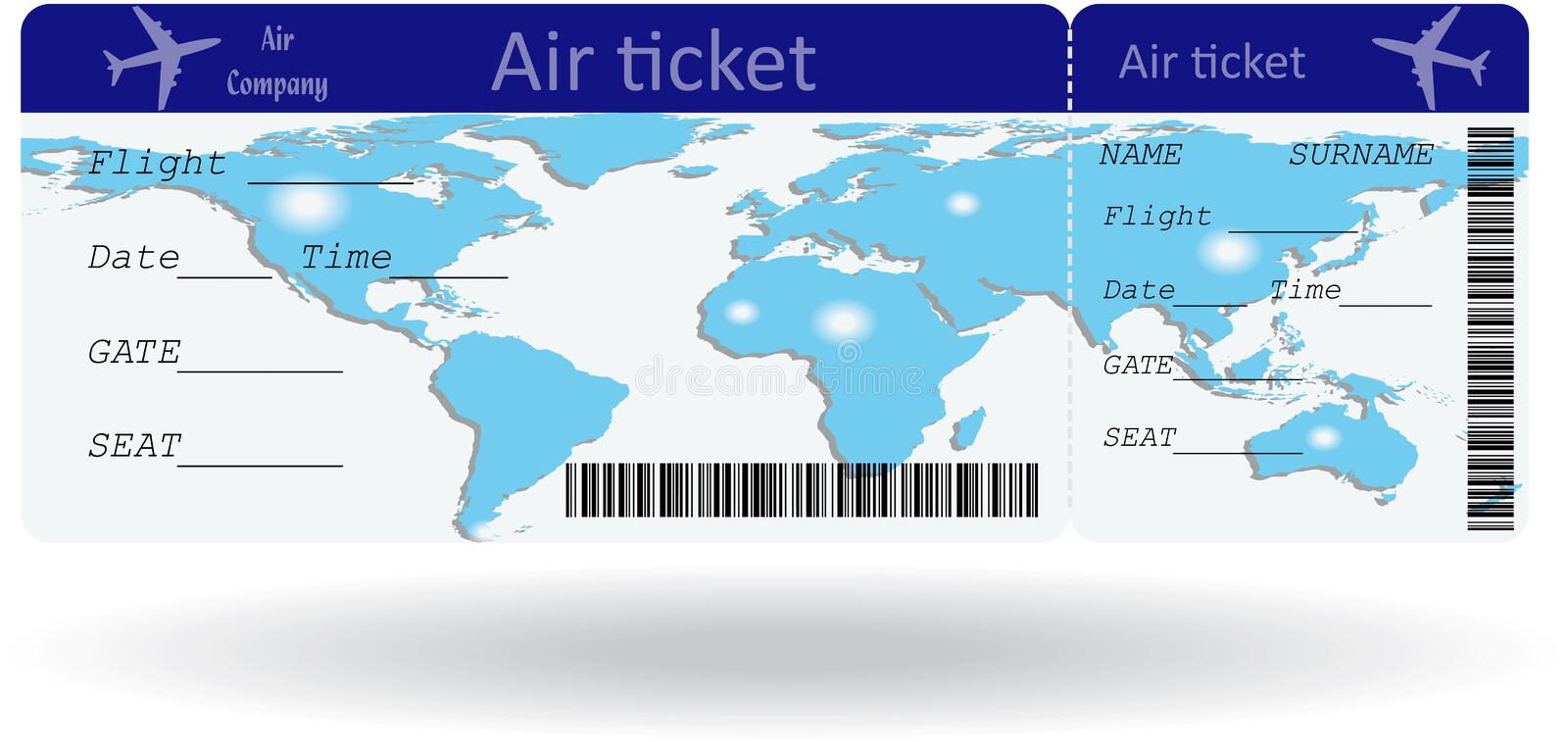 Variant Of Air Ticket Stock Vector Illustration Of Holiday