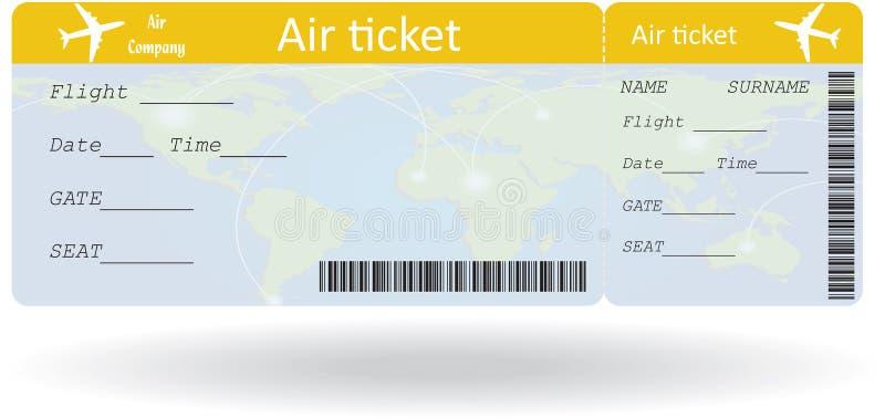 Variant av flygbiljetten stock illustrationer