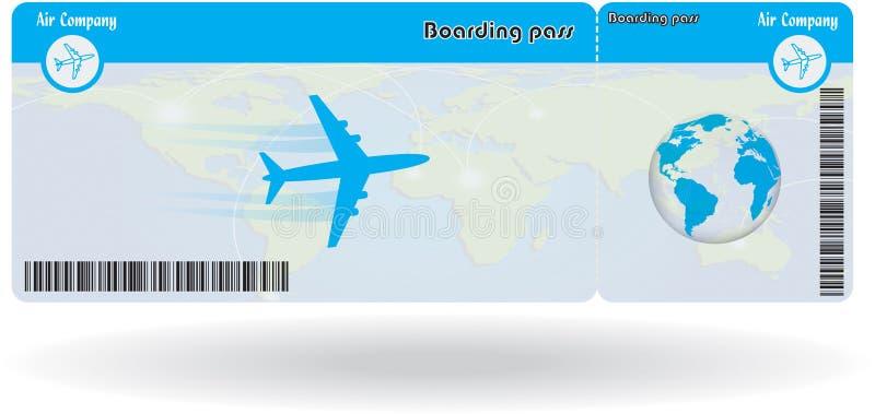 Variant av flygbiljetten royaltyfri illustrationer