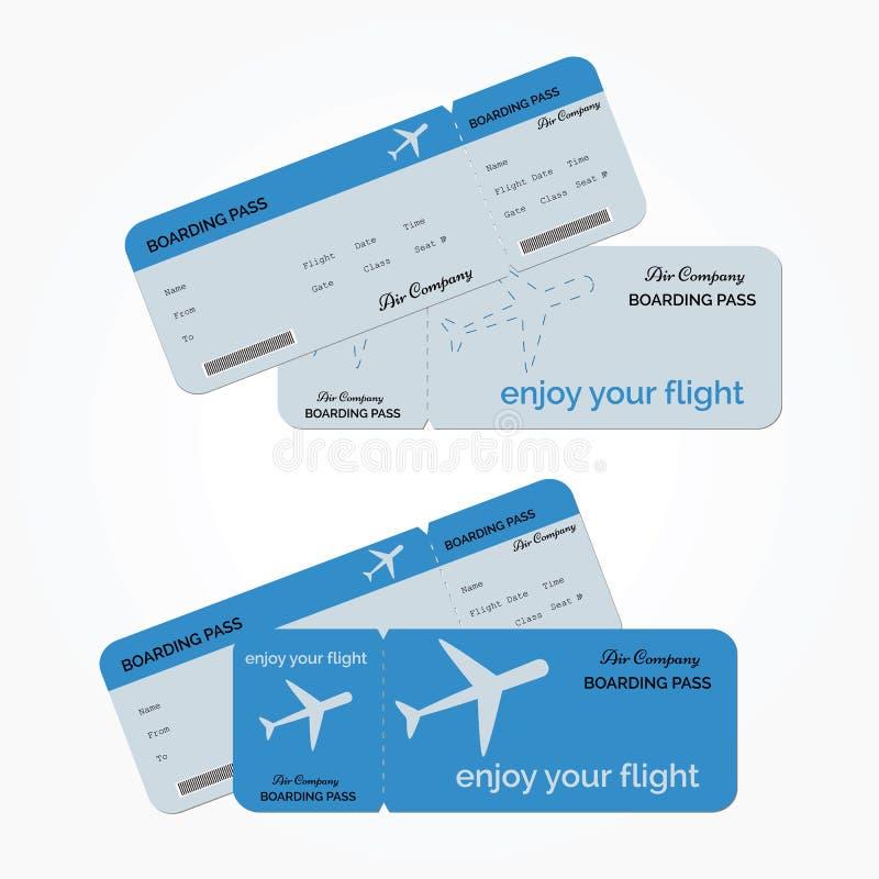 Variant av flygbiljetten också vektor för coreldrawillustration royaltyfri bild
