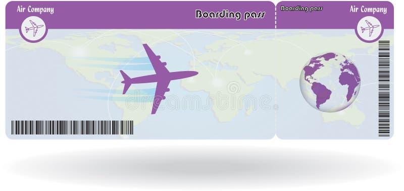 Variante de billet d'avion illustration de vecteur