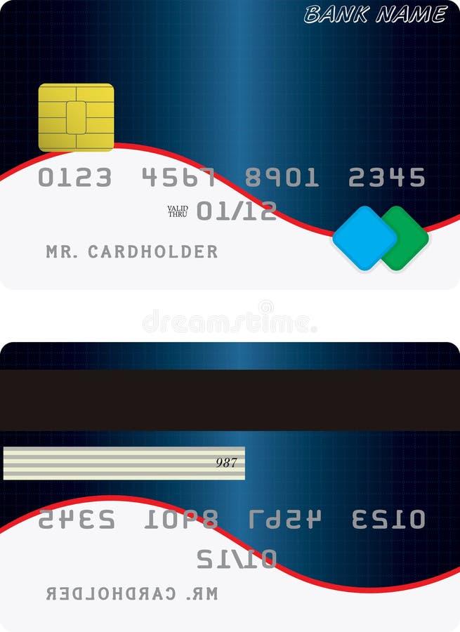 Variante de carte de crédit illustration stock