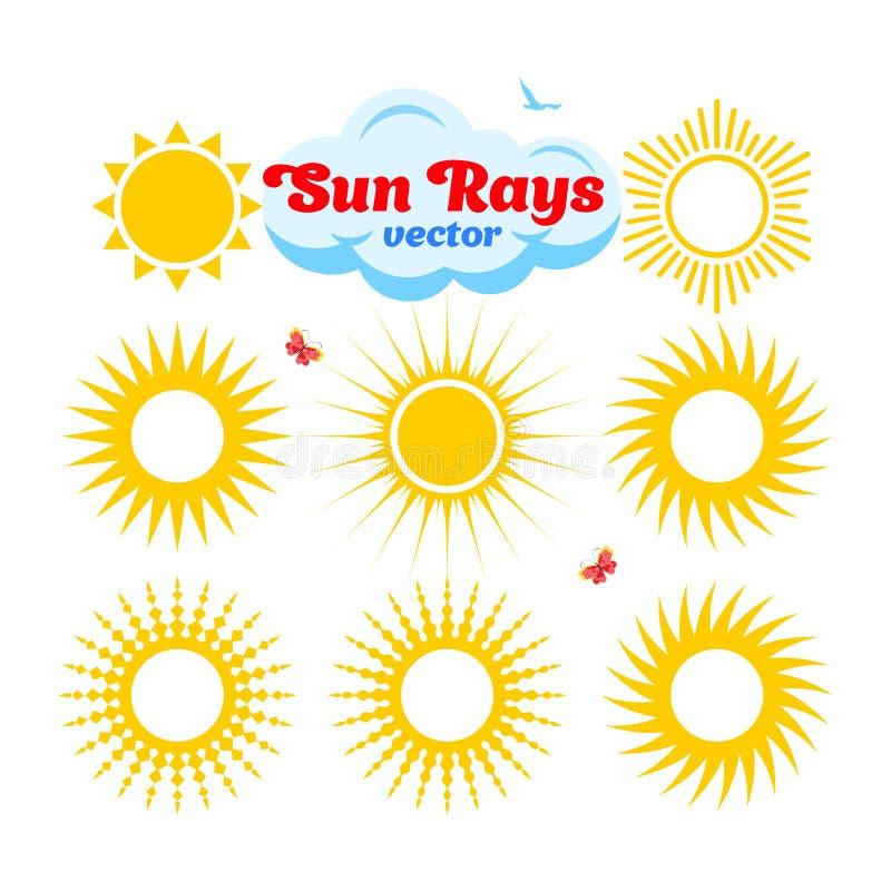 Variante dei raggi di Sun royalty illustrazione gratis