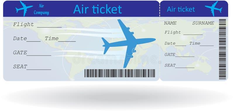 Variante del billete de avión libre illustration