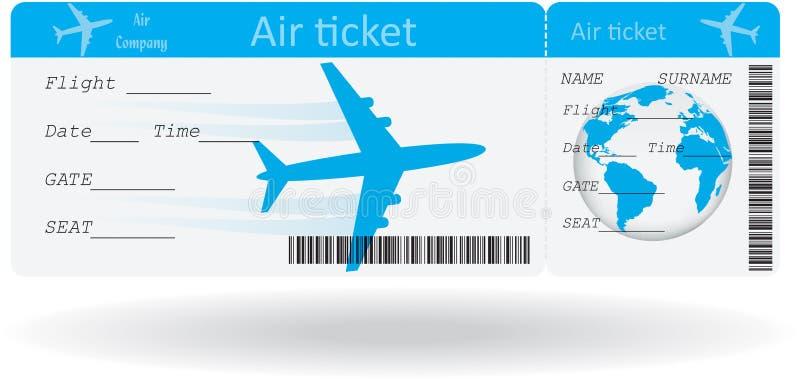 Variante del billete de avión ilustración del vector