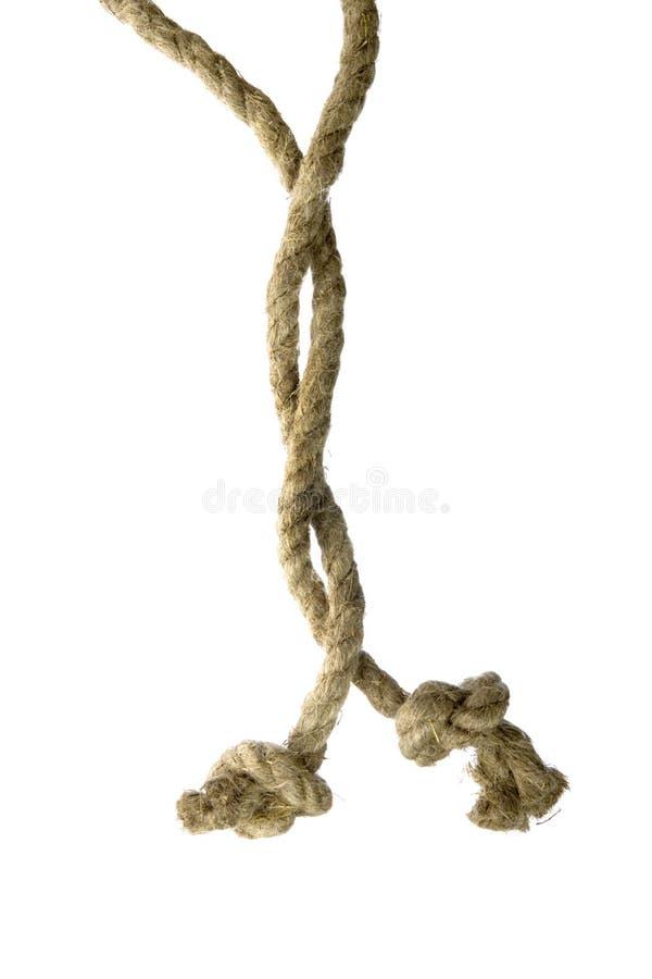 Varianten des Seils mit Knotenpunkt stockfotos
