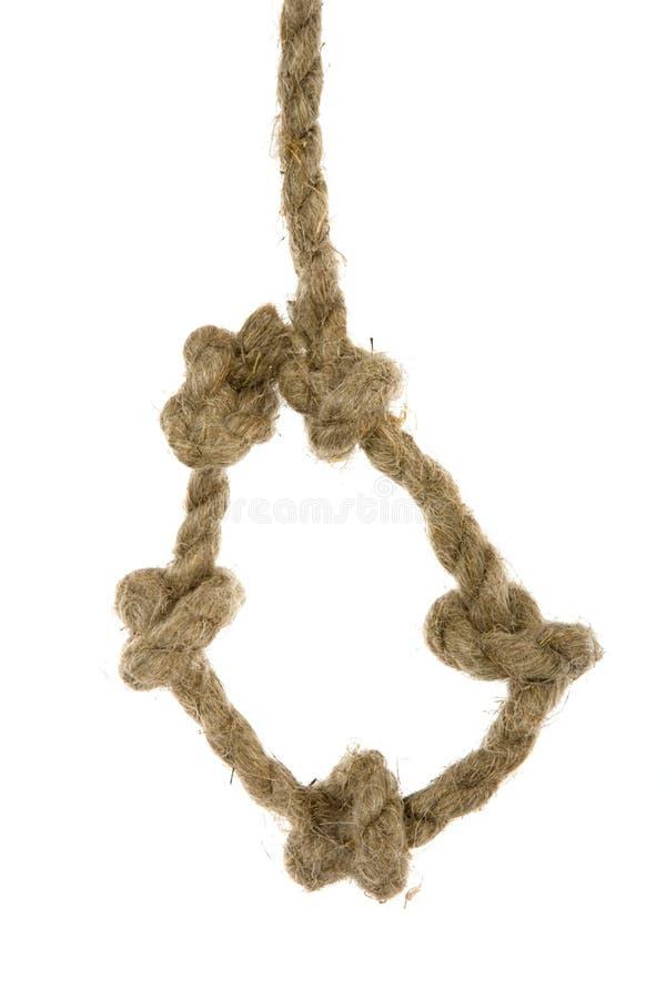Varianten des Seils mit Knotenpunkt auf Weiß stockfotos