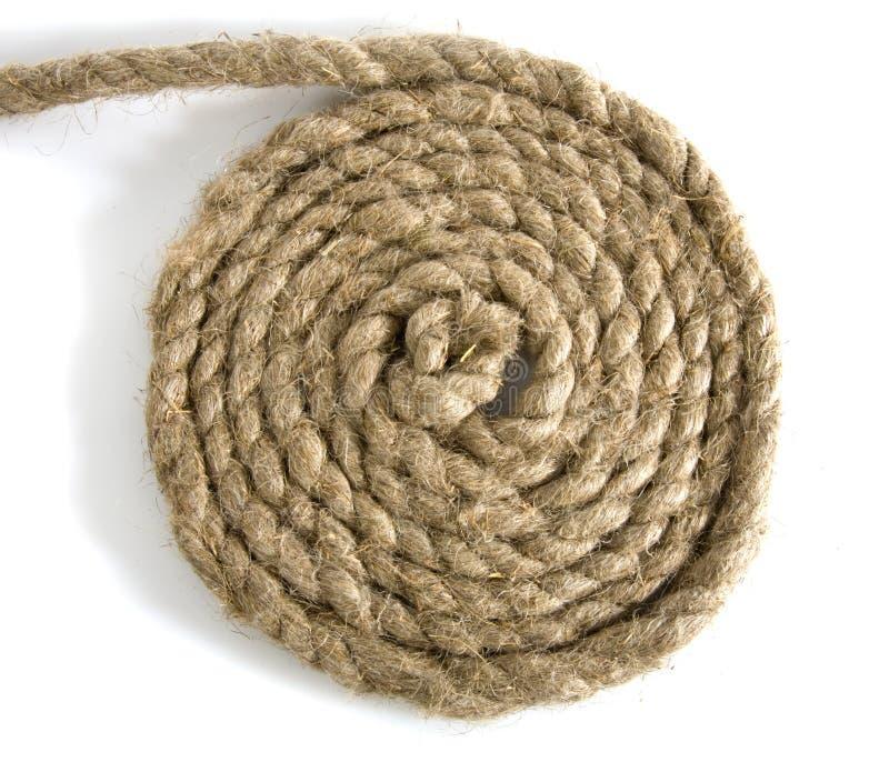 Varianten des Seils mit Knotenpunkt auf Weiß lizenzfreie stockbilder