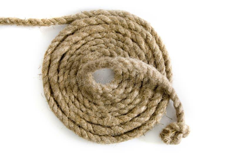 Varianten des Seils mit Knotenpunkt auf Weiß lizenzfreies stockfoto