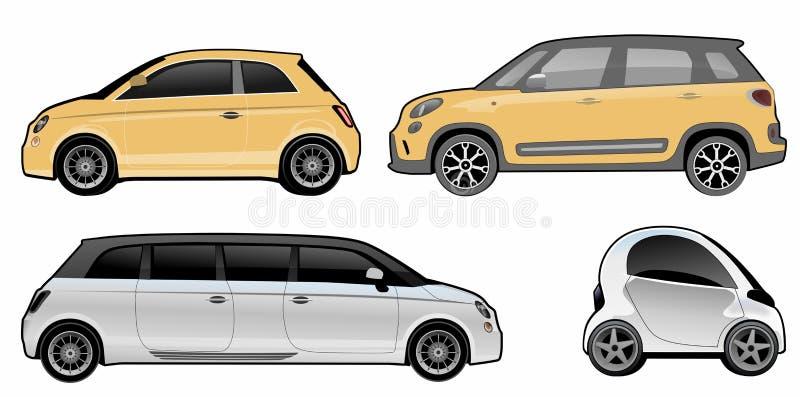 Varianten van een kleine auto vector illustratie