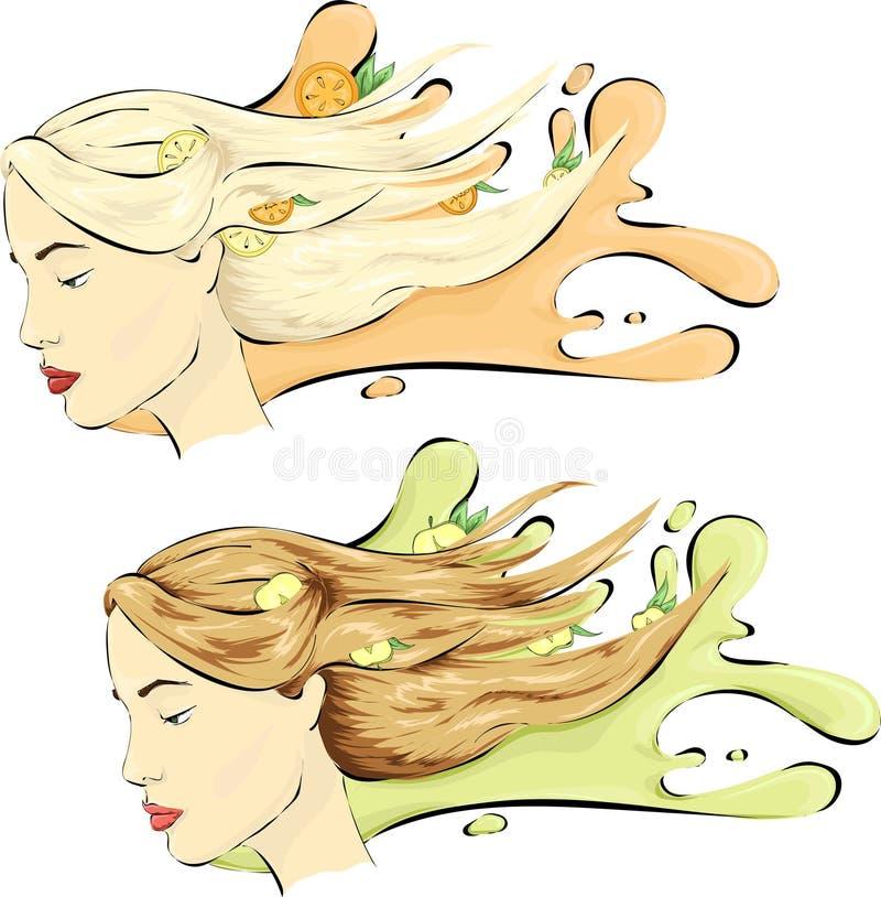 Varianter för skönhetkvinna itu stock illustrationer