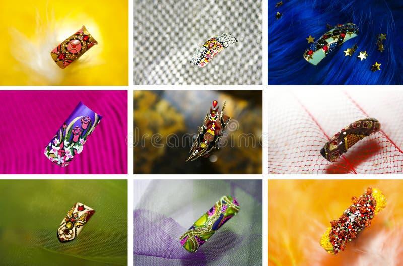 Variantes de la conception des clous. photographie stock