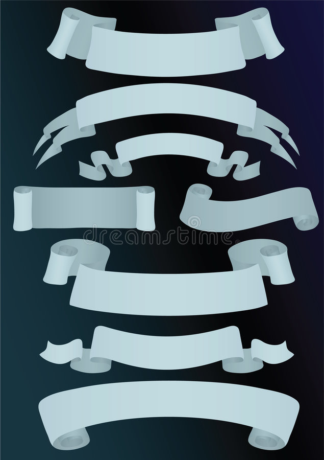Download Variants of eight banners stock vector. Image of ornate - 6854511