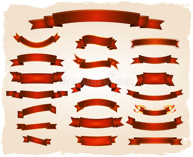 Varias banderas y serie de los desfiles stock de ilustración
