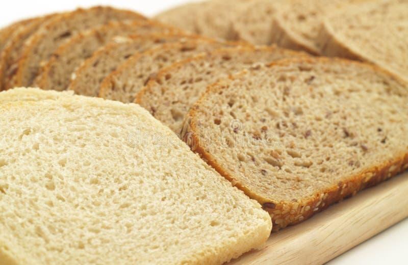 Varias clases de pan foto de archivo
