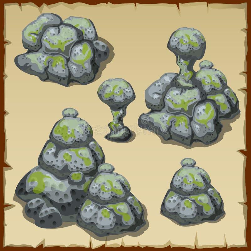 Varias diversas pilas de piedras grises libre illustration
