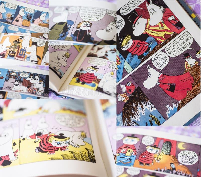Varias Páginas Coloridas De Los Libros De Moomin Foto editorial ...