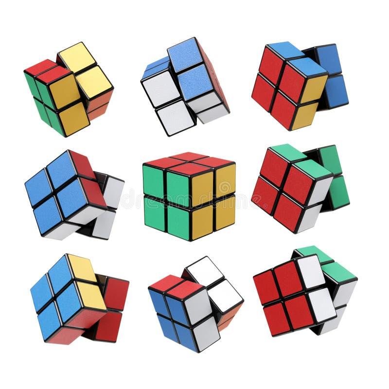Variatie van de kubus van Rubik s royalty-vrije stock afbeelding