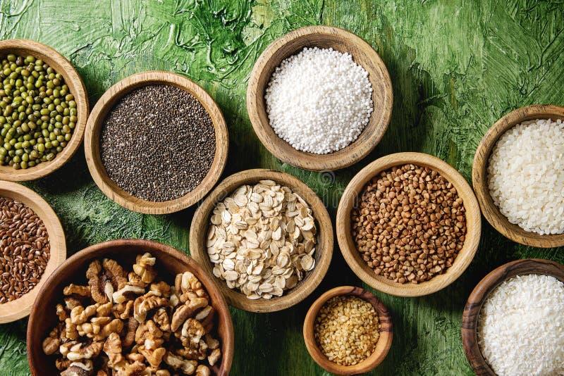 Variation av korn royaltyfri foto