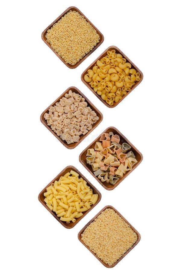Variation av torr pasta royaltyfri foto