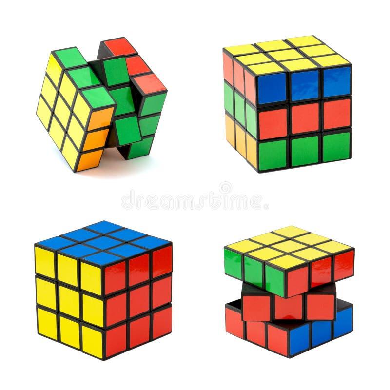 Variation du cube du Rubik illustration stock