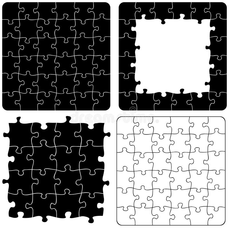 Variations de puzzle denteux/ENV illustration de vecteur
